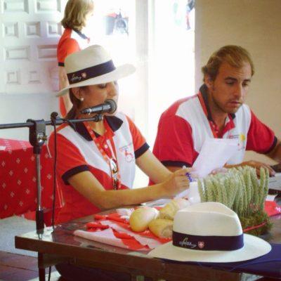 Como voluntaria en el Campamento Internacional para jóvenes con discapacidad de la Orden de Malta, en España.